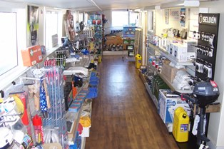 Barge Chandlery as you enter